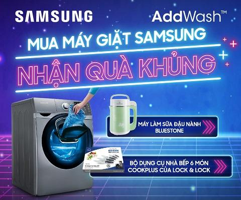 KM máy giặt samsung 2018
