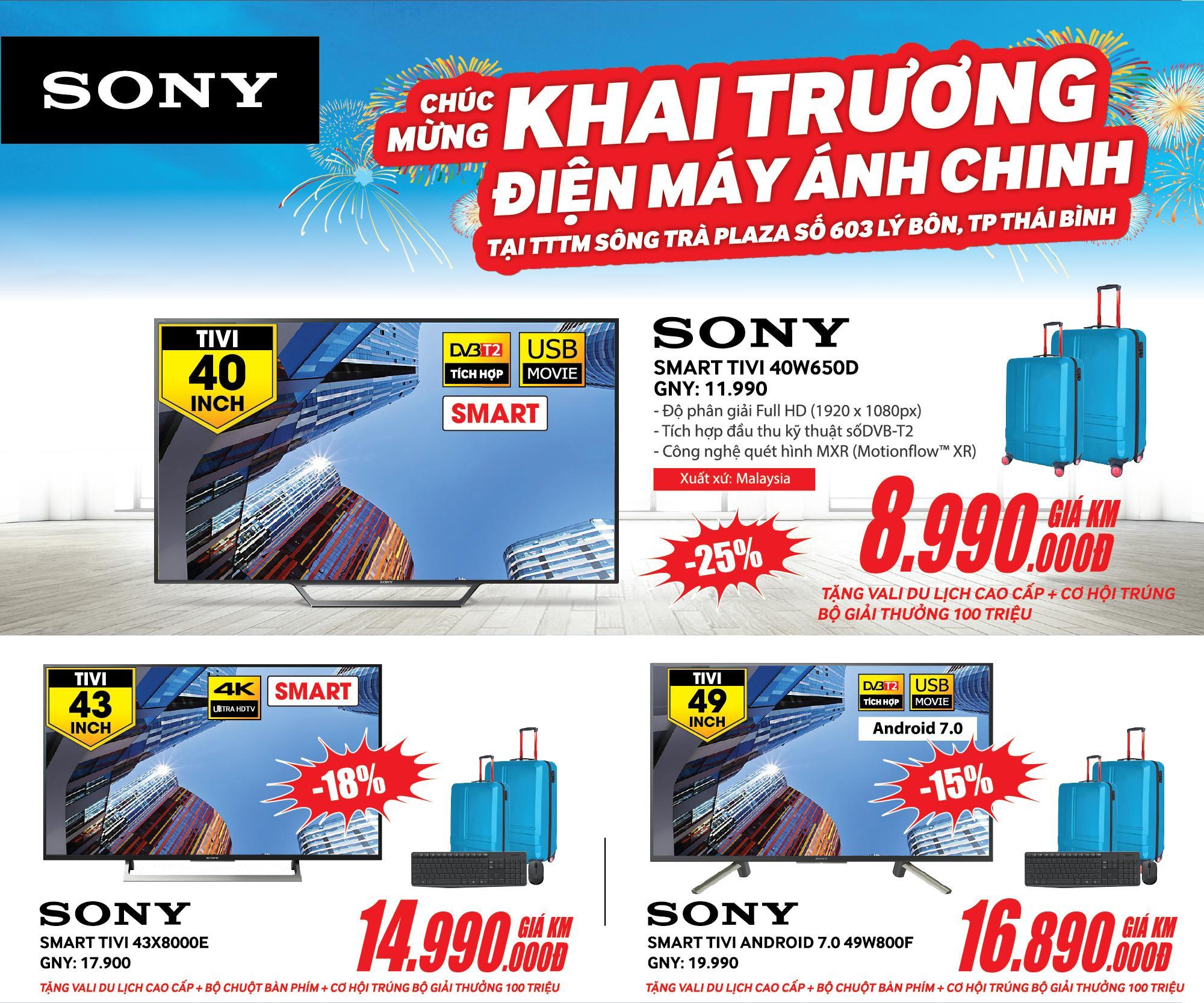 SONY - Chúc mừng khai trương điện máy ÁNH CHINH